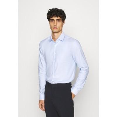 カルバン クライン テイラード メンズ シャツ トップス STRUCTURE EASY CARE SLIM - Formal shirt - blue blue