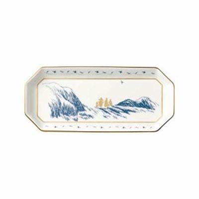 Noritake ノリタケ トレイ 18.5cm ムーミン 1枚 ムーミンパパ海へ行く ボーンチャイナ TG54806/N-091L ホワイト