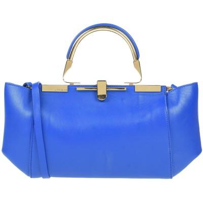 ZANCHETTI ハンドバッグ ブルー 革 100% ハンドバッグ