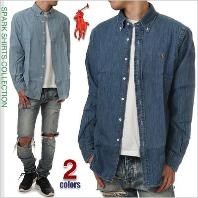 ラルフローレン デニムシャツ メンズ RALPH LAUREN メンズ 長袖 シャツ ボタンダウンシャツ USAモデル アメカジ USA ブランド ファッション 大きいサイズ デニム