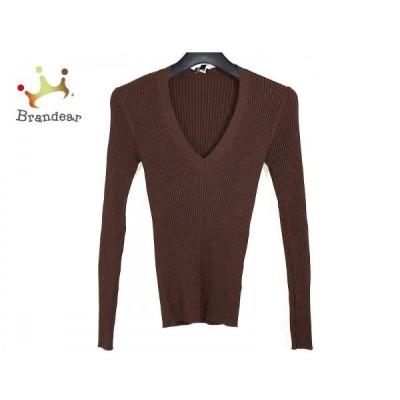 ジョセフ JOSEPH 長袖セーター サイズM レディース - ダークブラウン Vネック 新着 20200328