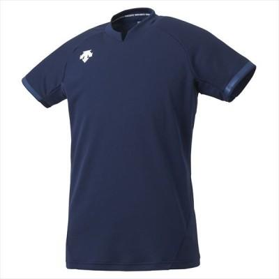 [DESCENTE]デサントバレー 半袖ゲームシャツ (DSS4024)(NVY) ネイビー×ネイビー[取寄商品]