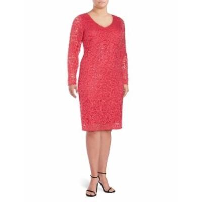 マリーナ レディース ワンピース Keyhole Lace Sheath Dress
