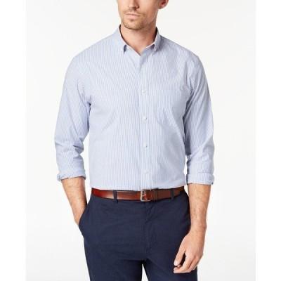 クラブルーム シャツ トップス メンズ Men's Micro-Striped Cotton Shirt with Pocket, Created for Macy's Light Blue