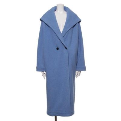 [GREED]Super140s Wool Seep フードコート (BLUE)