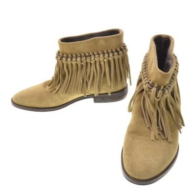 kiwi フリンジショート ブーツ