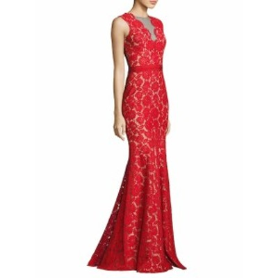 テイア レディース ワンピース Floral Lace Mermaid Gown
