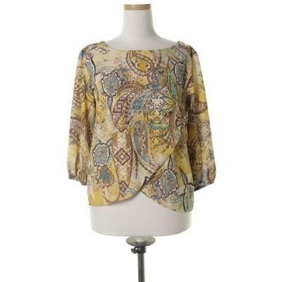 シャツ ブラウス ペイズリー柄7分袖ブラウス