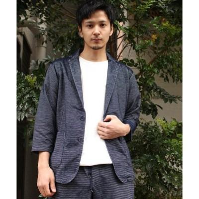 ジャケット テーラードジャケット 【06 BURNER SELECT】リップルカットジャケット7分袖
