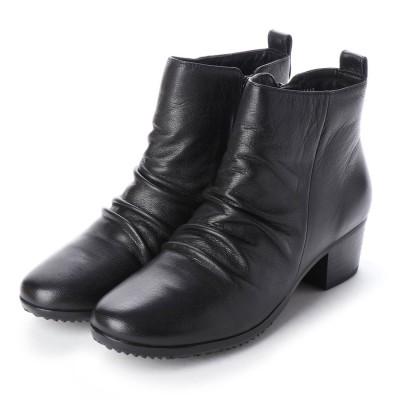 ポーターフォーチュン porter Fortune 本革シャーリングショートブーツ (ブラック)