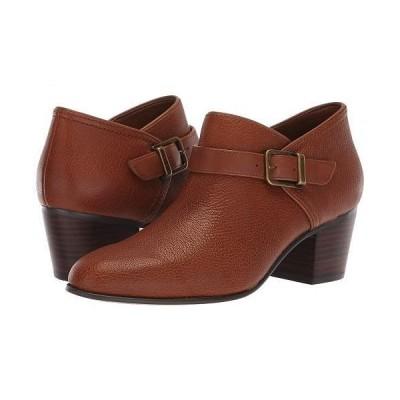 Clarks クラークス レディース 女性用 シューズ 靴 ブーツ アンクルブーツ ショート Maypearl Milla - Dark Tan Tumbled Leather