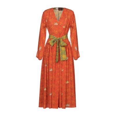 ロエベ LOEWE ロングワンピース&ドレス オレンジ 38 ポリエステル 100% ロングワンピース&ドレス