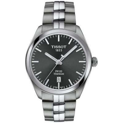 ティソット メンズ 腕時計 アクセサリー Men's Swiss PR100 Titanium Bracelet Watch 39mm