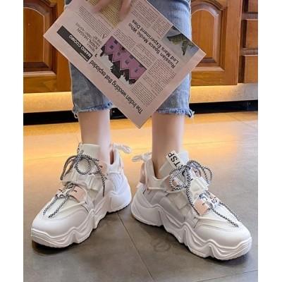 Shoes in Closet -シュークロ- / 厚底 ボリュームソール バイカラーダットスニーカー《約6.5㎝ソール》 35 WOMEN シューズ > スニーカー