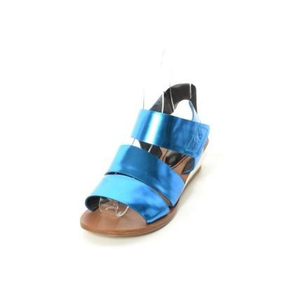 SEE BY CHLOE メタリック サンダル 37 ブルー シーバイクロエ