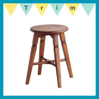 ロースツール(sou)ソウ/アンティーク風 レトロ クラシック アトリエチェア 椅子 天然木 飾り棚としても おしゃれ