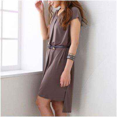スキッパーカットソーワンピース (ワンピース)Dress