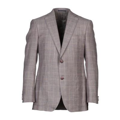 パル ジレリ PAL ZILERI テーラードジャケット ライトブラウン 52 ウール 40% / シルク 35% / リネン 25% テーラードジ