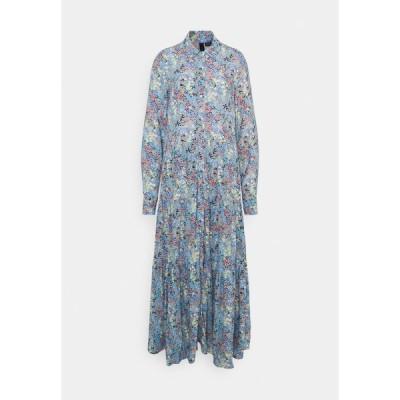 ヤス トール ワンピース レディース トップス YASSANTOS LONG SHIRT DRESS - Maxi dress - dusk blue/santos print