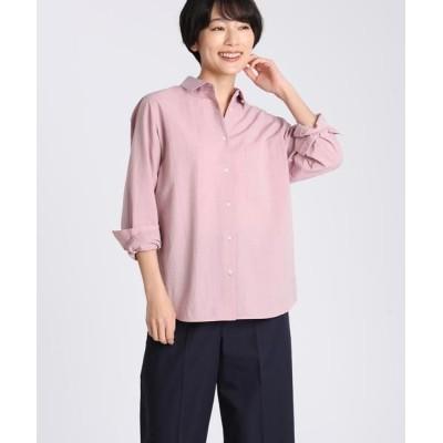I.T.'S. international/イッツインターナショナル シャンブレーワイドシャツ ピンク1 03