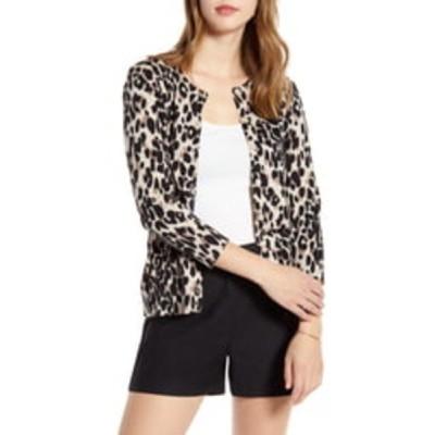 ワンナインオーワン カーディガン アウター レディース Cotton Blend Cardigan Beige- Black Leopard Print