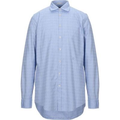 マッシモ アルバ MASSIMO ALBA メンズ シャツ トップス patterned shirt Azure