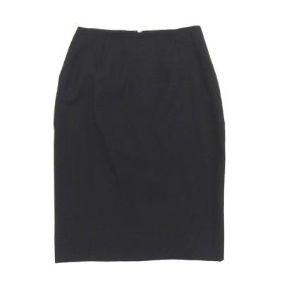 グッチ ウール ひざ丈 スリム スカート ブラック size40 X01931