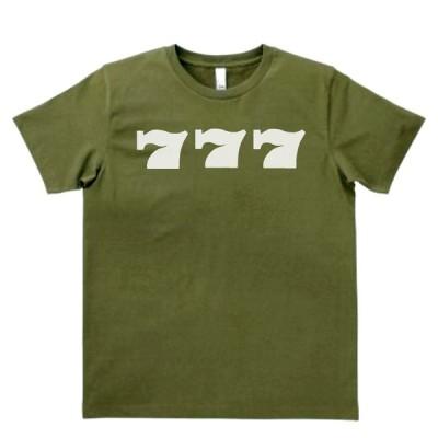 デザイン Tシャツ 777 スリーセブン カーキー MLサイズ