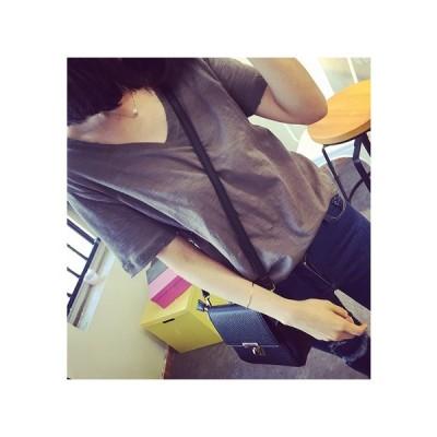 半袖Tシャツ ダメージ加工 Vネック 無地 グレー ブラック 40997