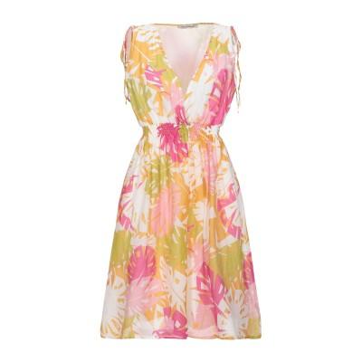 PAOLO CASALINI ミニワンピース&ドレス オークル M コットン 80% / シルク 20% ミニワンピース&ドレス