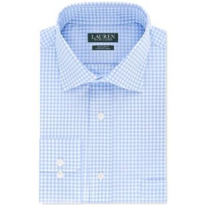ラルフローレン メンズ シャツ トップス Men's Regular-Fit Non-Iron UltraFlex Stretch Performance Gingham Check Dress Shirt Light B