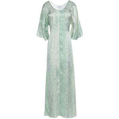 フォルテ フォルテ FORTE_FORTE ロングワンピース&ドレス ライトグリーン 1 シルク 100% ロングワンピース&ドレス
