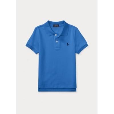 ラルフローレン 2T-7 ボーイズ/キッズ Polo Ralph Lauren Cotton Mesh Polo Shirt ポロシャツ 半袖 Blue 男の子