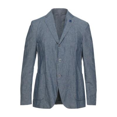 ラルディーニ LARDINI テーラードジャケット ブルーグレー 50 コットン 54% / リネン 46% テーラードジャケット