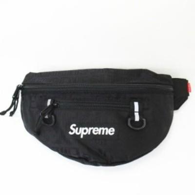 【中古】シュプリーム SUPREME ★AA☆19SS Waist Bag Black ウエストバッグ 黒 ブラック メンズ