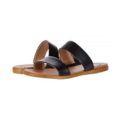Steve Madden スティーブマデン レディース 女性用 シューズ 靴 サンダル Dual Flat Sandal - Black Leather