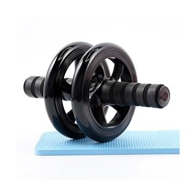 KY腹筋ローラー エクササイズウィル スリムトレーナー エクササイズ 超静音 腹筋ローラー エクササイズローラー (ブラック)