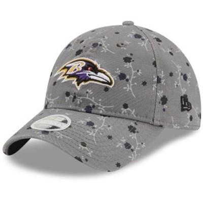 ニューエラ レディース 帽子 アクセサリー Baltimore Ravens New Era Women's Blossom 9TWENTY Adjustable Hat Gray
