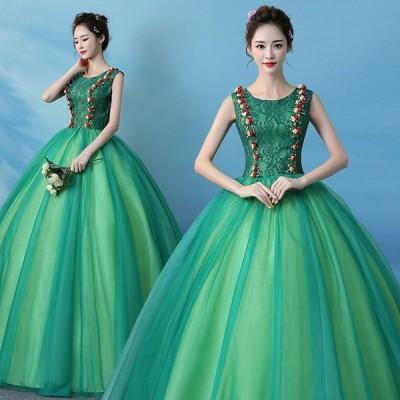 ウエディングドレス 高級 花嫁ドレス 結婚式 ドレス 花 編み上げタイプ ラインストーン ステージ 撮影 二次会 パーティー 結婚式