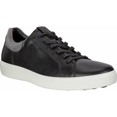 エコー メンズ スニーカー シューズ Soft 7 Street Sneaker Black/Titanium Cow Leather