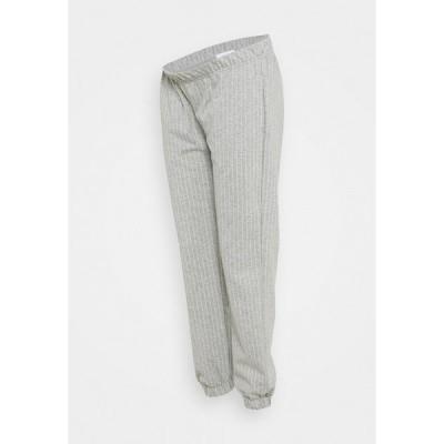 ママリシャス カジュアルパンツ レディース ボトムス MLNICOLE PANTS - Tracksuit bottoms - light grey melange/white