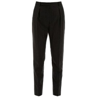 SAINT LAURENT PARIS/イヴ サンローラン Mixed colours Saint laurent lame pinstripe trousers レディース 春夏2020 611057 Y1A90 ik