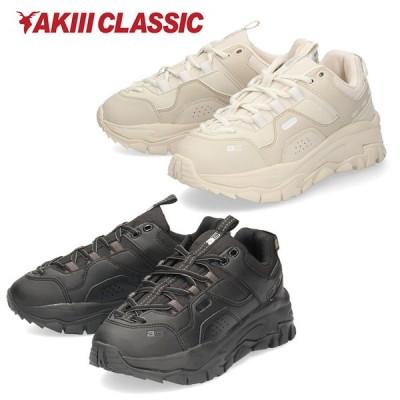 アキ クラシック レディース スニーカー AKIII CLASSIC AKIII ROADROLLER AKC-00007 ベージュ ブラック ダッドスニーカー 韓国