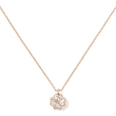 ケイト スペード KATE SPADE NEW YORK レディース ネックレス something sparkly cubic zirconia spade flower pendant necklace Clear/Rose Gold