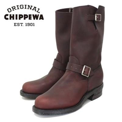 CHIPPEWA チペワ 1940 11inch ORIGINAL ENGINEER BOOTS プレーントゥ エンジニアブーツ BURGUNDY