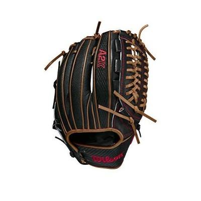 "(新品) Wilson 2021 A2K D33 w/SuperSkin (P) Right Hand Throw Baseball Glove - 11.75"", Black Superskin/Black Snakeskin"
