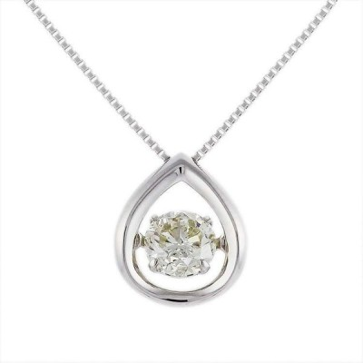 Pt900 プラチナ ダイヤモンド 0.40ct K SI2 Good 一粒 ダンシングストーン ネックレス 6EPU4530130-KI 天然石