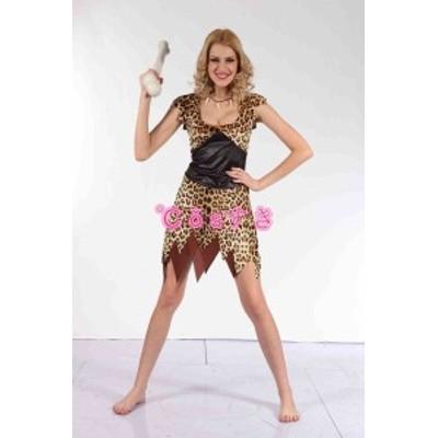 ハロウィン Halloween 野人成人女性 セクシー豹柄イベント パーティー ステージ 変装 仮装 COS 高品質 新品 Cosplay アニメ