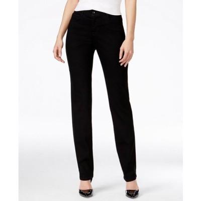 スタイルアンドコー デニムパンツ ボトムス レディース Tummy-Control Slim-Leg Jeans,  Noir