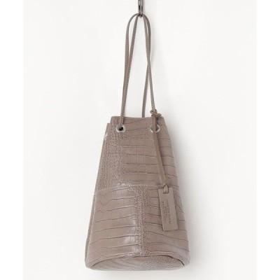 バッグ ハンドバッグ 【MARCO MASI】別注/クロコ型押し巾着バッグS